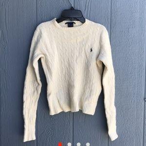 Cream Ralph Lauren lambswool sweater